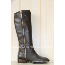 Fashion Casual Flat Lady Leather Boots for Sexy Women