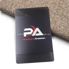 Custom Stainless Steel Black Metal Business Card