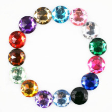Acrylic Sew on Rhinestone 10mm Round