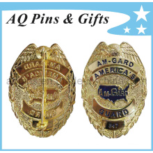 La insignia militar de la policía del metal de la alta calidad en mejor 3D graba (insignia-037)