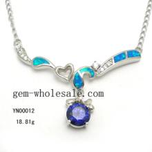 Collier de bijoux-mode argent opale (YN00012)