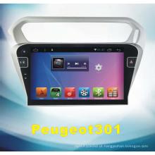 Áudio do carro do sistema Android para Peugeot 301 com navegação do carro