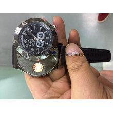 Hot Sale Electronic Lighter Quartz Watch USB Rechargeable