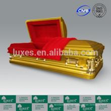 LUXES amerikanisches 18ga goldenen Metall Sarg Coffin