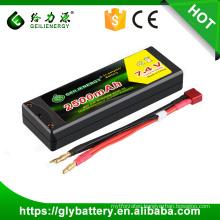 Hard Case Rc Car Lipo Battery Pack 2500mah 45c 7.4v 2s2p