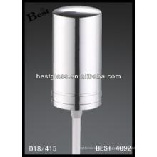 18/415 pulvérisateur de pompe de bouteille en plastique avec le chapeau en aluminium, vaporisateur cosmétique de bouteilles et pompe, pulvérisateur de pompe de parfum