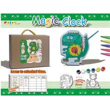 Bricolage brinquedo relógio mágico brinquedo pintado (h2112144)