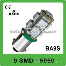 Brilho elevado Ba9s 9 SMD 5050 12V luz conduzida automotriz