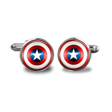 Superhero Captain America Set Perak Cufflinks