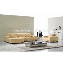 L shape synthetic leather living room sofa KW343