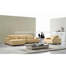 Sofá de sala de estar sintético em forma de L KW343