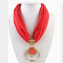 2017 women infinity latest scarf designs polyester circular pendant scarf