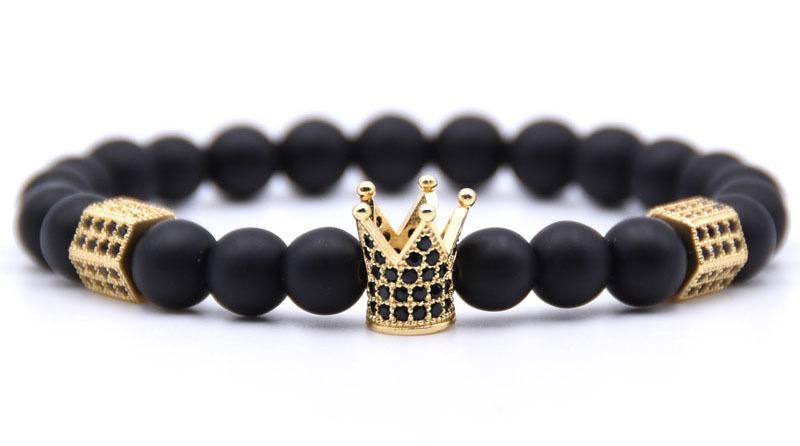 crown bead bracelet