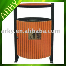 Rose Wood Outdoor Trash Can