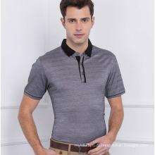 100% gekämmtes Baumwollmode Europa Markt Herren Stripepolo Shirt