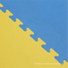 Tapis de Jigsaw 40mm en finition Tatami bleu / jaune
