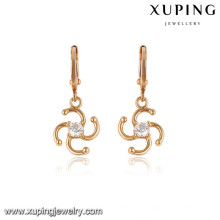 27394 xuping 18k gold plated jewelry fancy women earring for christmas gifts