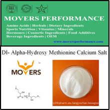 Fábrica de suministro de aminoácidos Dl-alfa-hidroxi-metionina sal de calcio