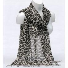 Impression de bambou de femmes Leopardspring automne été tissé plage couverture châle snood Loop écharpe (SW131)