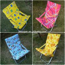 Cadeira de praia inclinada reclinável Cadeira de sol para posição ajustável colorida de 5 posições