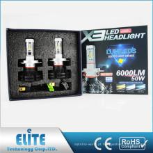 High-end 2 anos de garantia com ZES Chip 12 v 24 v 50 W carro h7 h4 lâmpada x3 levou farol