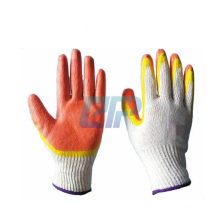 10 Gauge 2 Yarn TC cotton Liner Smooth Double Dipped Latex Gloves
