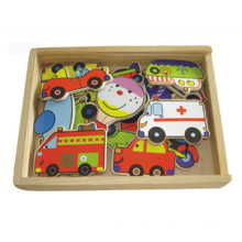 Wooden Magnetic Vehicle Toy (20PCS) (80640)