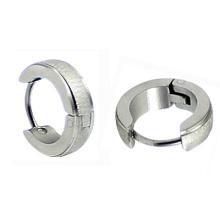 Нержавеющая сталь Mens Huggie Обручальные серьги из серебра Tone Hoop Earring в хирургической стали HE-024