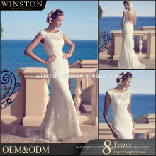 Alibaba Wholesale wedding dress with red flowers embroidery
