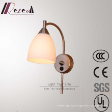 Modern Simple Hotel Decorative Brass Bedside Iron Wall Lamp