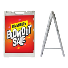 High Quality Double Side  Outdoor Plastic A Frame Pavement Sidewalk Signs Stand