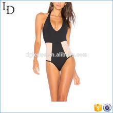 Traje de baño de lycra de diseño de calidad superior bikini transparente de una pieza
