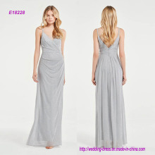 Luxuriöses Schein schmeichelndes drapiertes Brautjungfernkleid