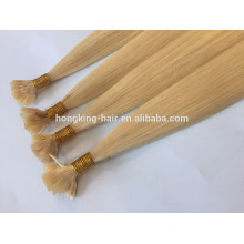 Indian Human Remy Hair Double Drawn 10-28inch #24 Keratin Glue Flat Tip Hair Extensions