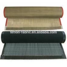 PTFE personalizado revestido de fibra de vidro malha de tingimento e secagem correia transportadora