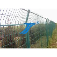 Clôture de sécurité de clôture de treillis métallique soudée par PVC