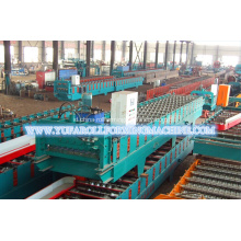 Warna ubin Baja Corrugated Roof Roll Forming Machine