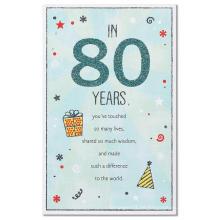 American Greetings Old Man 80. Geburtstagskarte mit Glitter Glitter Card