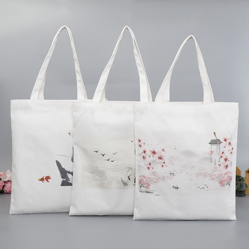 Handmade Canvas Tote Shopping Bag