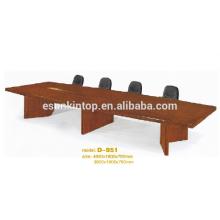 Mesa de conferência de estilo simples para escritório, Design personalizado de mobiliário de escritório (D-951)