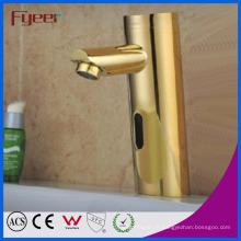 Fyeer luxe plaqué or automatique seulement robinet capteur (QH0106G)