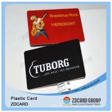 Tarjeta de plástico de tamaño tarjeta de crédito en PVC