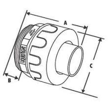 Accesorios para conductos eléctricos de tubería de PVC