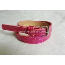 New arrival 2014 fashion glitter pu garments belt