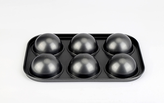 6-cavity carbon steel semicircle muffin pan-gray004
