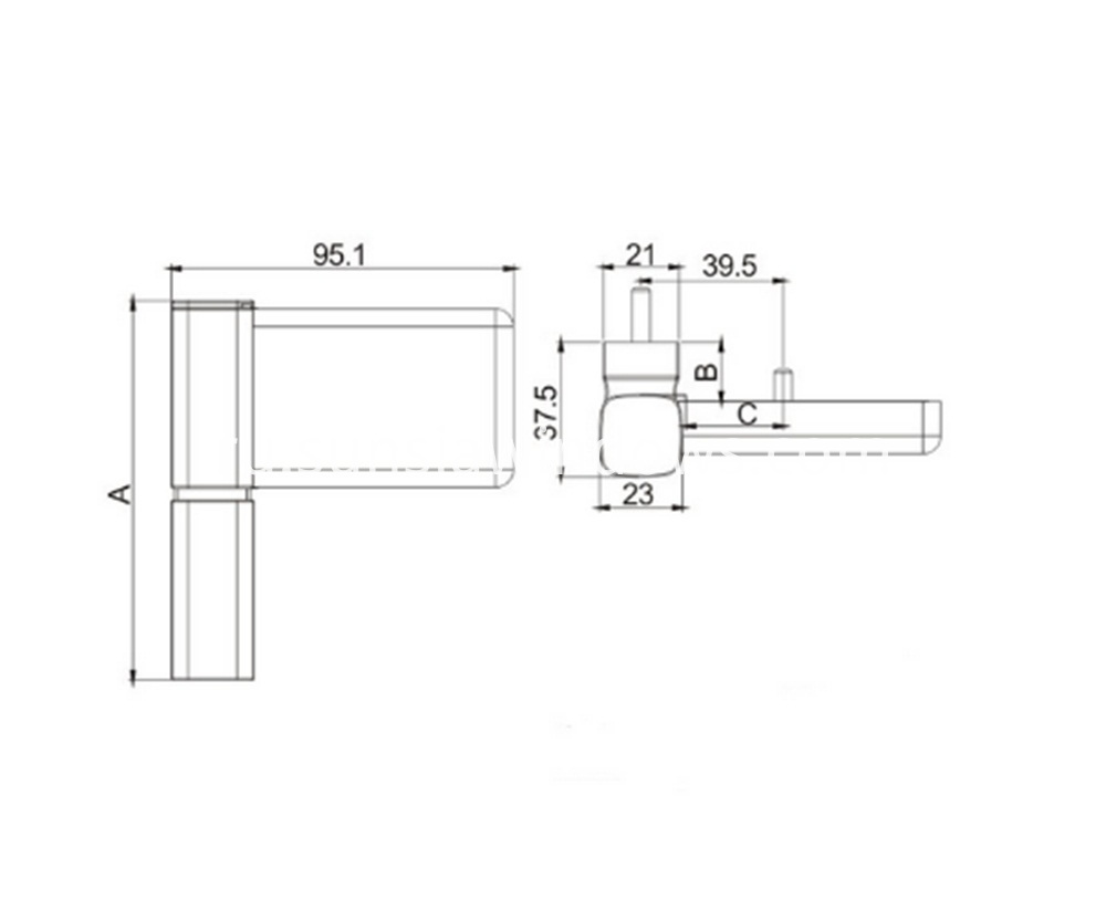 Heavy Door Hinge, Hinge Door 360 Degree Door Hinge Drawing