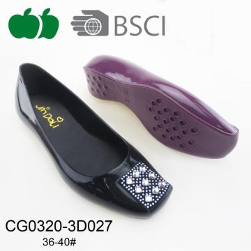 2017 New Fashion Ladies Pvc Casual Shoes