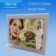 Quadro de retrato digital da montagem do desktop ou da parede de 15 polegadas
