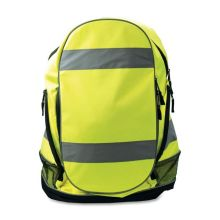 Hi Vis Yellow Warning Reflective Safety Backpack