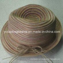 Chapéu de palha colorido da mistura da forma